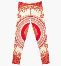 Legging Diseño inspirado en Versace con Medusa - Rojo