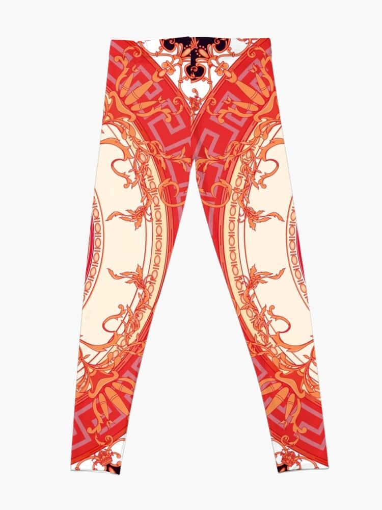 Alternative Ansicht von Versace inspiriert Design mit Medusa - Red Leggings