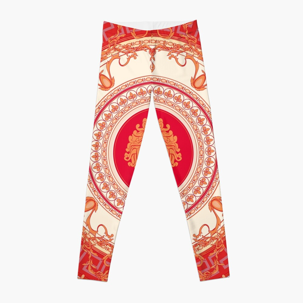 Versace inspiriert Design mit Medusa - Red Leggings