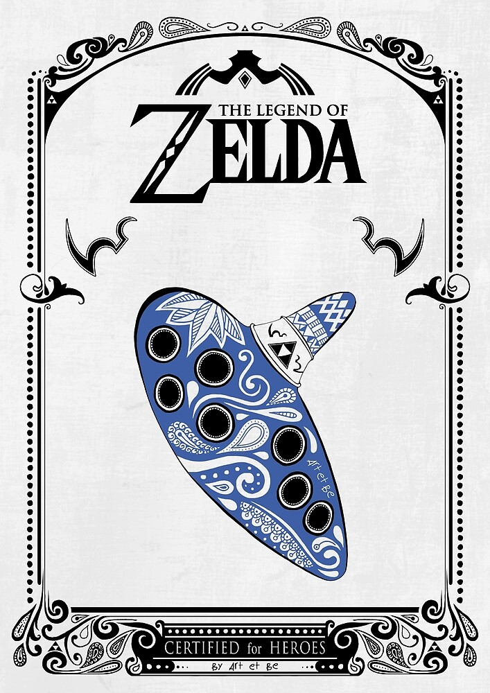 Zelda Legende - Ocarina Gekritzel von artetbe