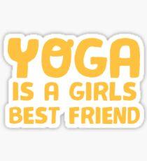 YOGA is a girls best friend Sticker