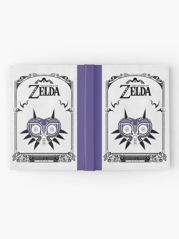 Vista alternativa de Cuaderno de tapa dura Zelda Legend - Doodle de la máscara de Majora