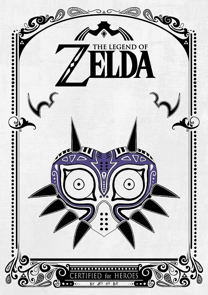 «Zelda Legend - Doodle de la máscara de Majora» de artetbe