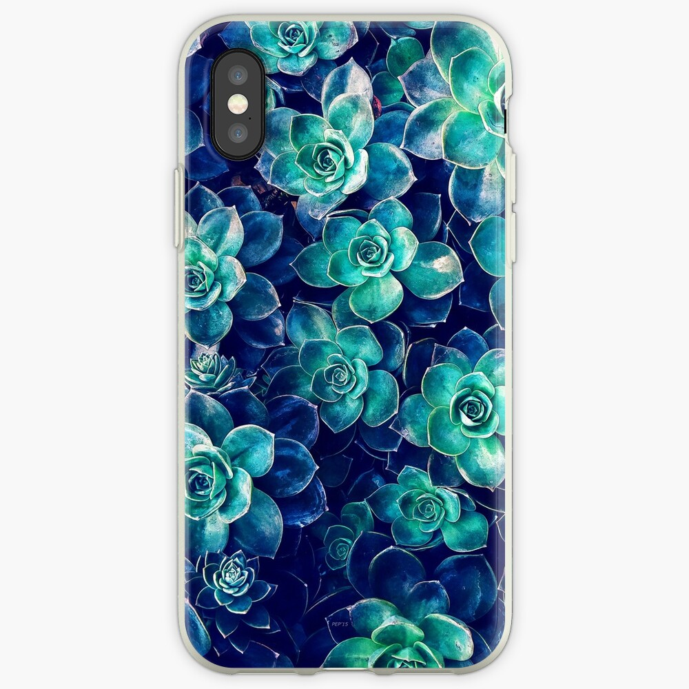 Plants of Blue And Green iPhone Cases & Covers