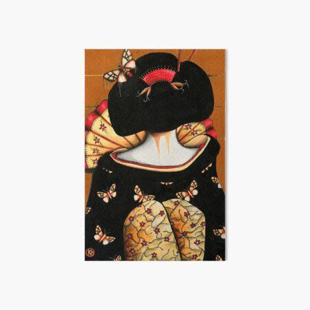 Geisha Girl Prints Art Board Print