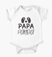 PAPA PANDA (with matching Mama Panda and Baby Panda) One Piece - Short Sleeve
