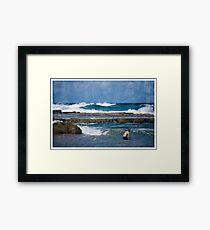 A Swim At The Beach Framed Print