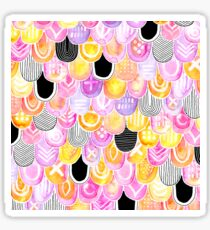 Citrus, Cotton Candy & Licorice Watercolor Scales Sticker
