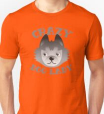 Crazy DOG LADY (with cute new face) Unisex T-Shirt