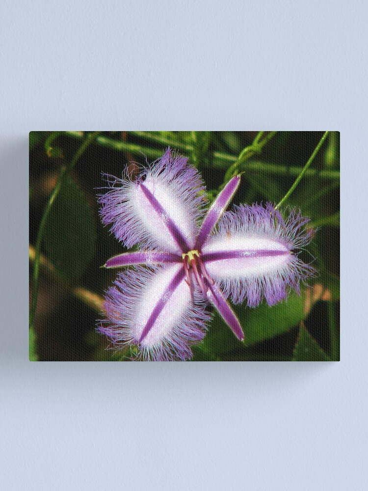 Alternate view of Magic Silver White Canvas Print