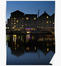 Night time at the Salthouse Hotel, Ipswich Poster