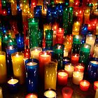 Candles in the dark by level