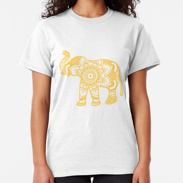 Mandala Elefant Gelb Classic T-Shirt