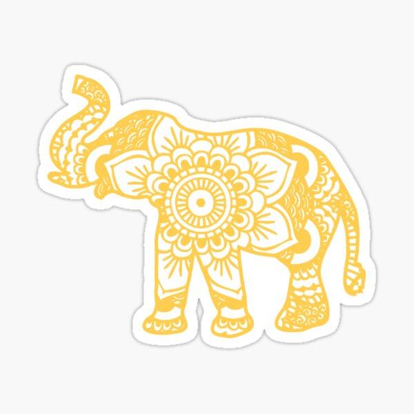 plus d'animaux de mandala sont maintenant disponibles! Voir mon profil pour en savoir plus.  !!! *** Des utilisateurs aimables m'ont fait savoir que mes créations Mandala Elephant étaient volées et vendues ailleurs sur Internet. À l'avenir, je vais mai Sticker