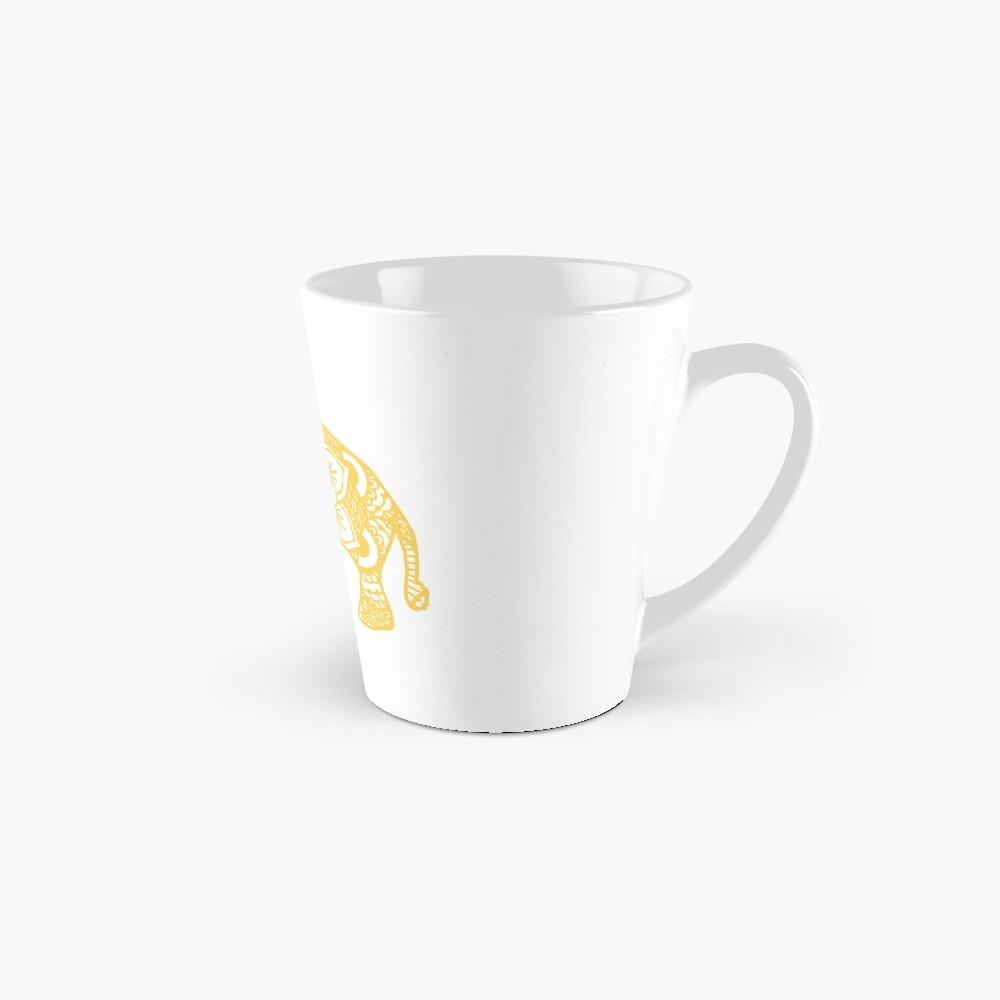 Mandala-Elefant-Gelb Tasse