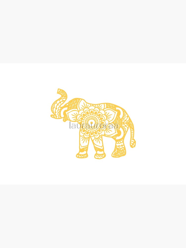 Mandala Elephant Yellow de laurauroraa