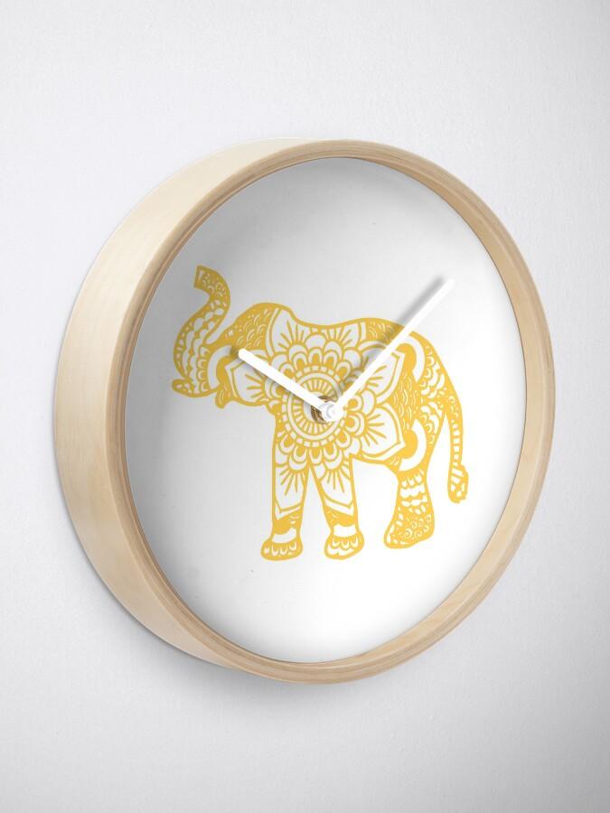 Vista alternativa de Reloj Mandala Elephant Yellow
