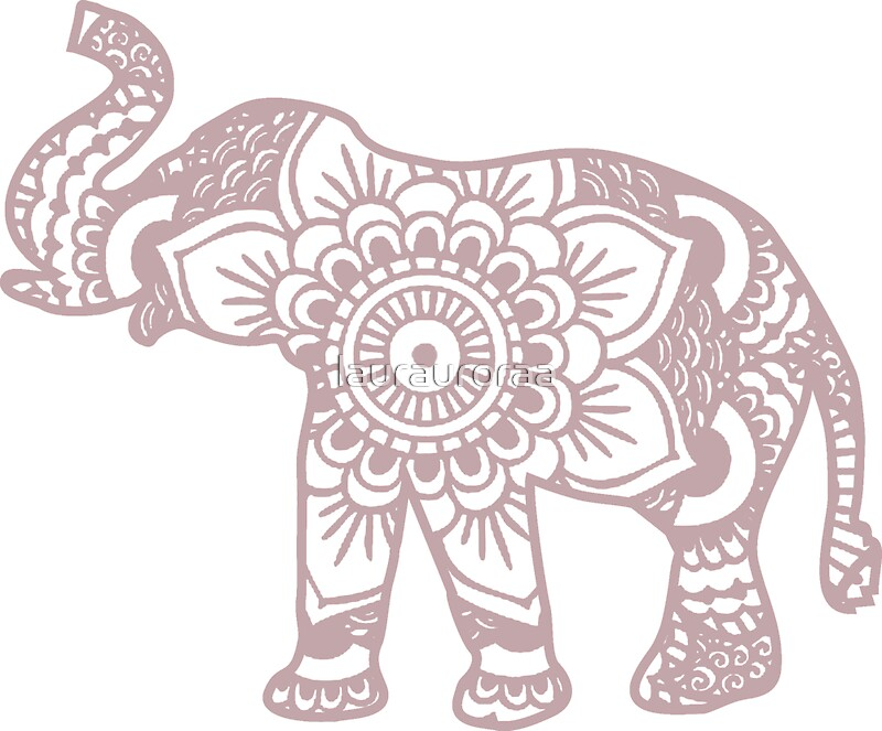 Quot Mandala Elephant Lilac Quot Stickers By Laurauroraa Redbubble