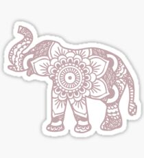 Mandala Elephant Lilac Sticker