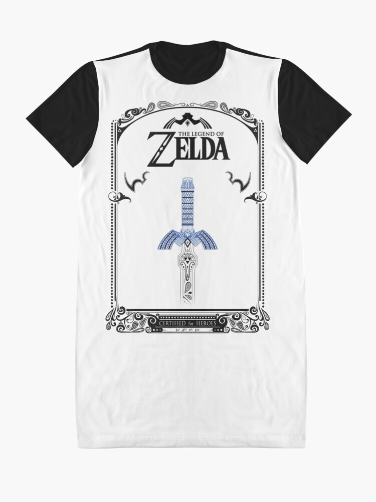 Vista alternativa de Vestido camiseta Leyenda de Zelda - enlace Espada doodle