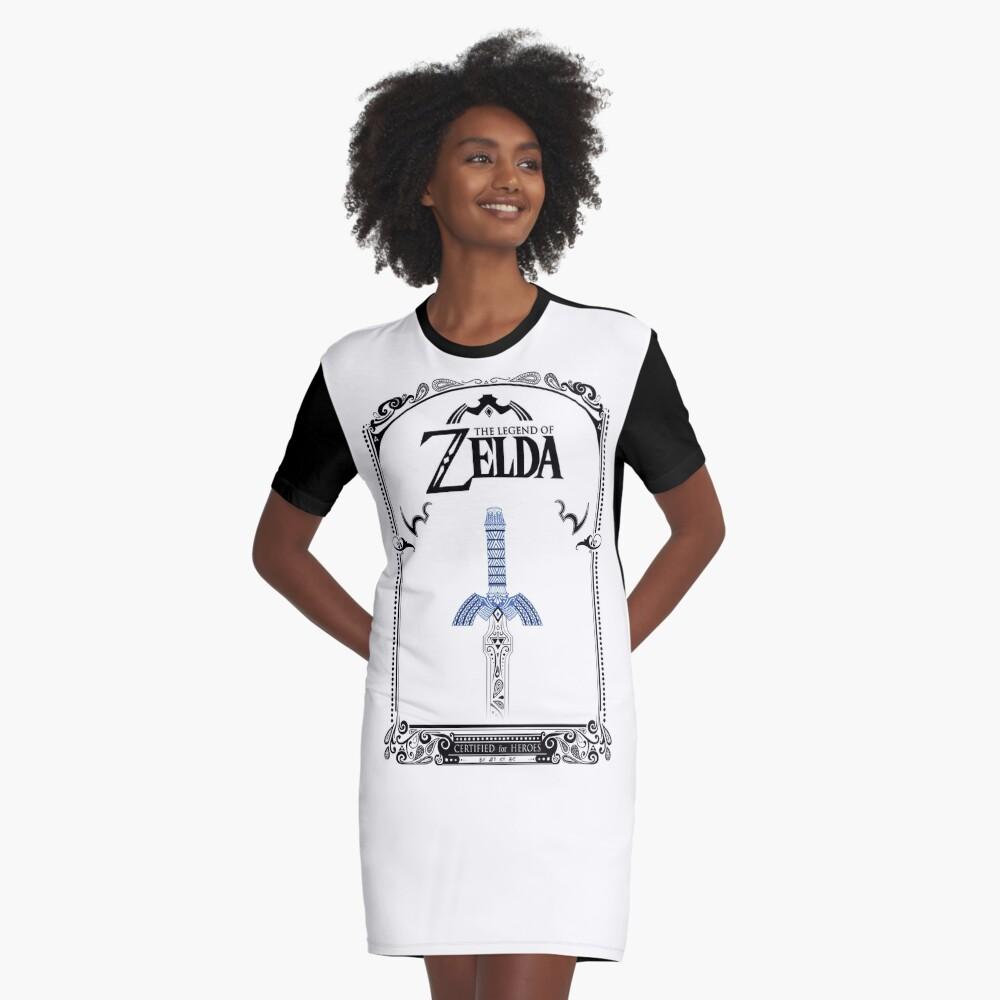 Leyenda de Zelda - enlace Espada doodle Vestido camiseta