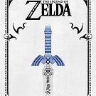 «Leyenda de Zelda - enlace Espada doodle» de artetbe