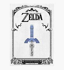 Zelda legend - link Sword doodle Photographic Print