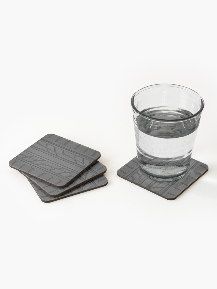 Alternate view of Race car tyre section Coasters (Set of 4)