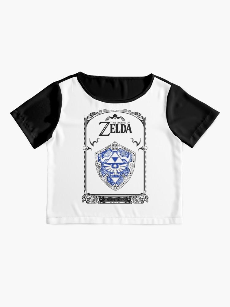 Vista alternativa de Blusa Zelda legend - Link Shield Doodle