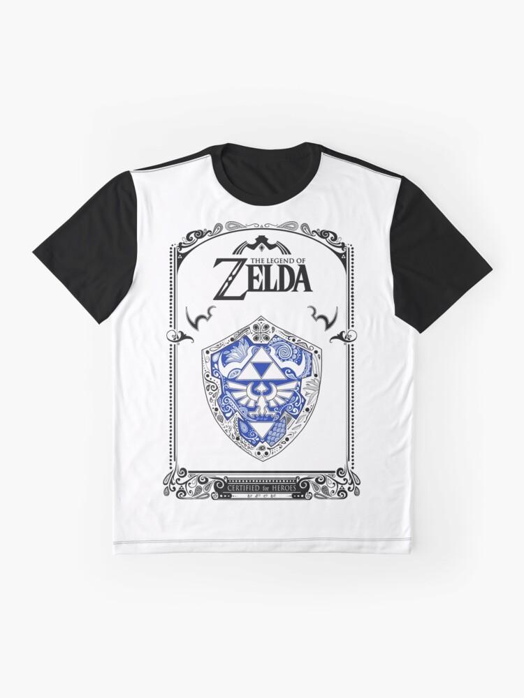 Vista alternativa de Camiseta gráfica Zelda legend - Link Shield Doodle