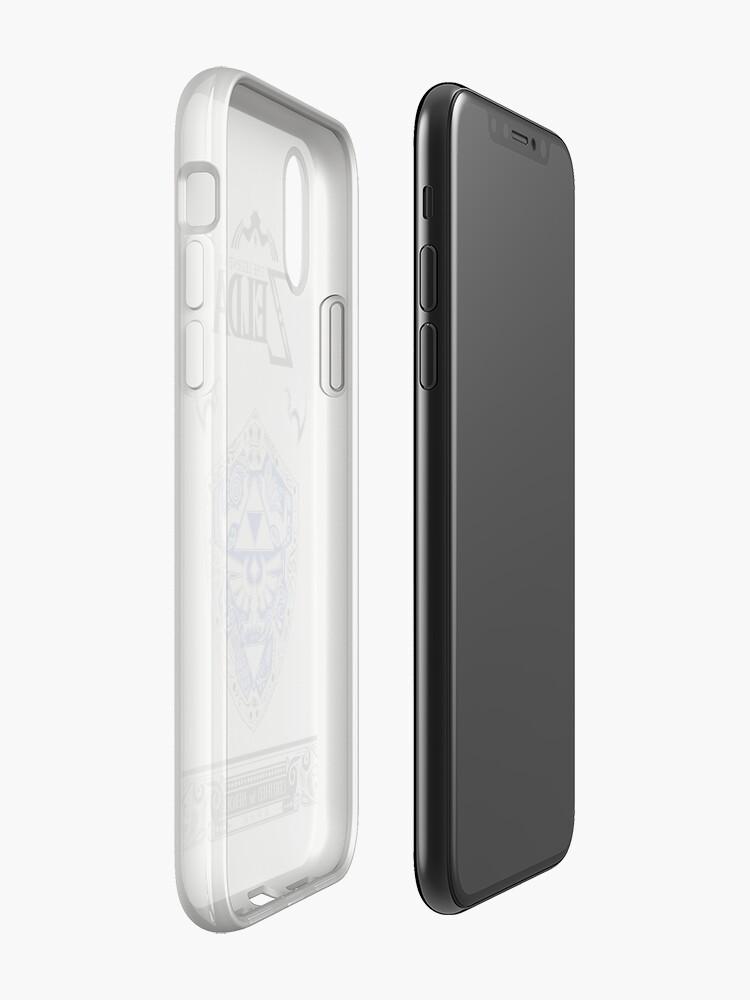 Alternative Ansicht von Zelda Legende - Link Shield Gekritzel iPhone-Hülle & Cover