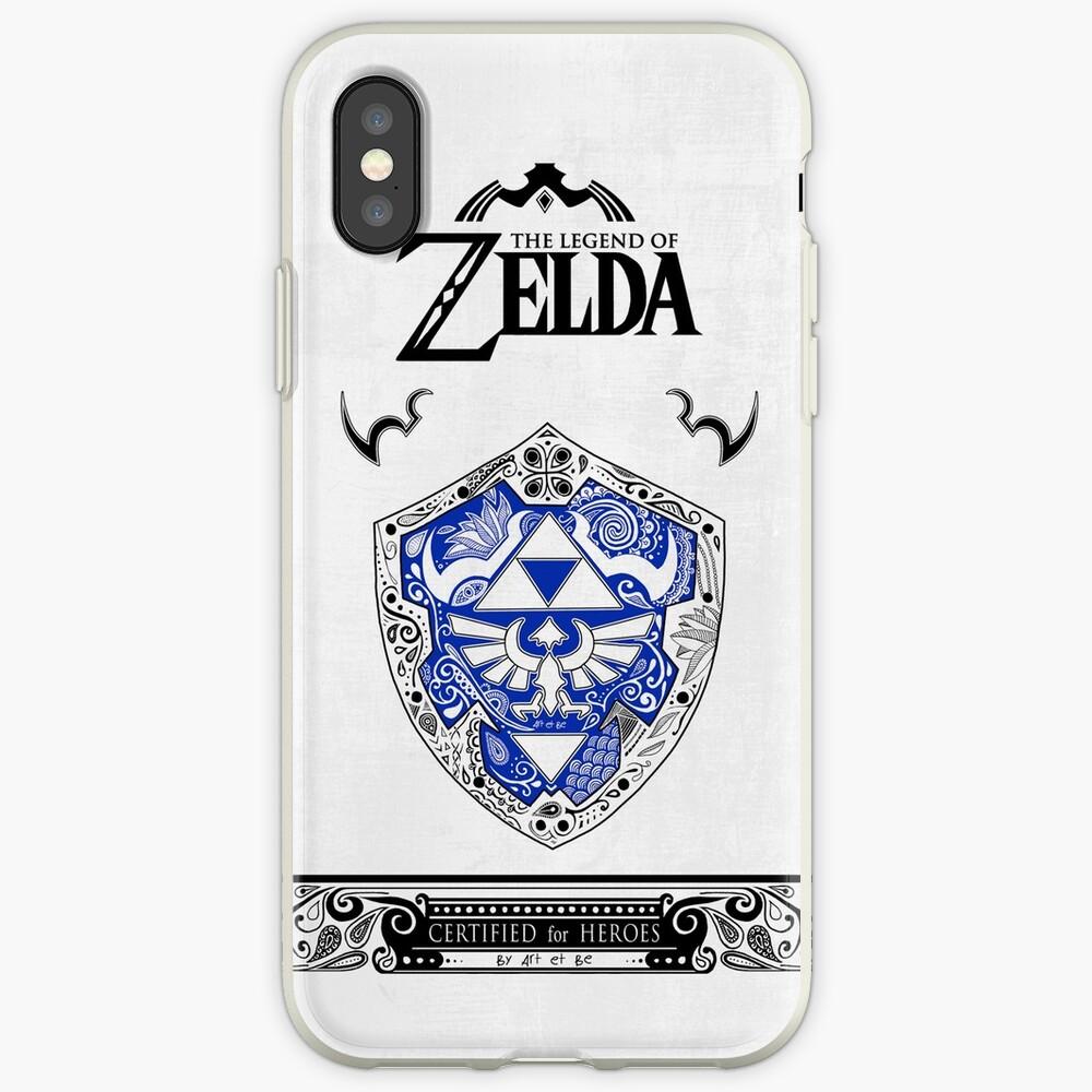 Zelda Legende - Link Shield Gekritzel iPhone-Hülle & Cover