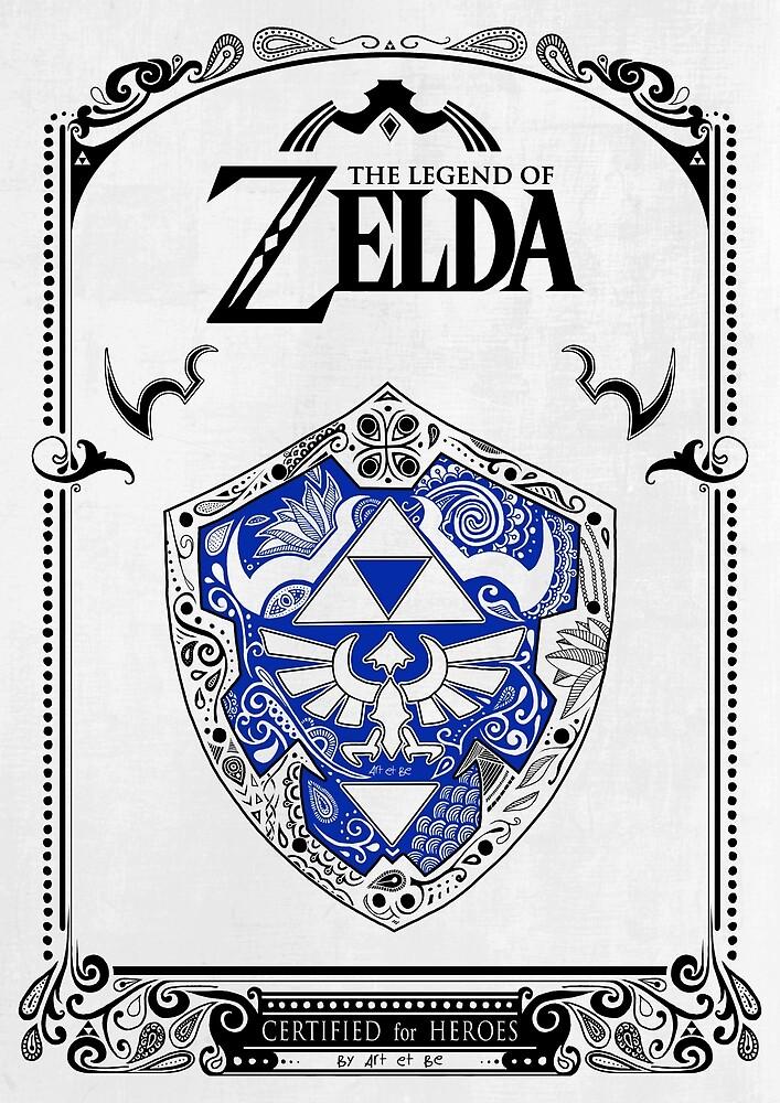 «Zelda legend - Link Shield Doodle» de artetbe