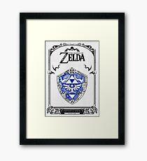 Lámina enmarcada Zelda legend - Link Shield Doodle