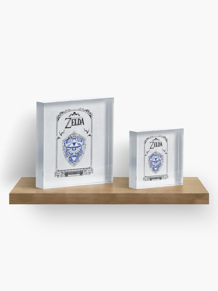 Vista alternativa de Bloque acrílico Zelda legend - Link Shield Doodle