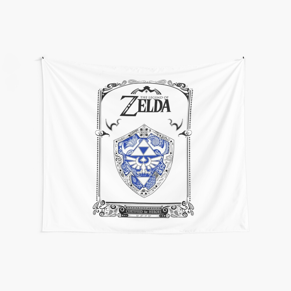 Zelda legend - Link Shield Doodle Tela decorativa