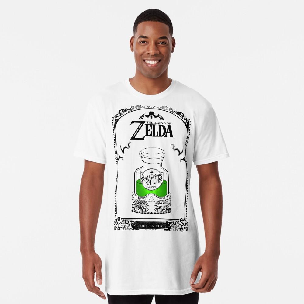 Leyenda de zelda - poción verde Camiseta larga