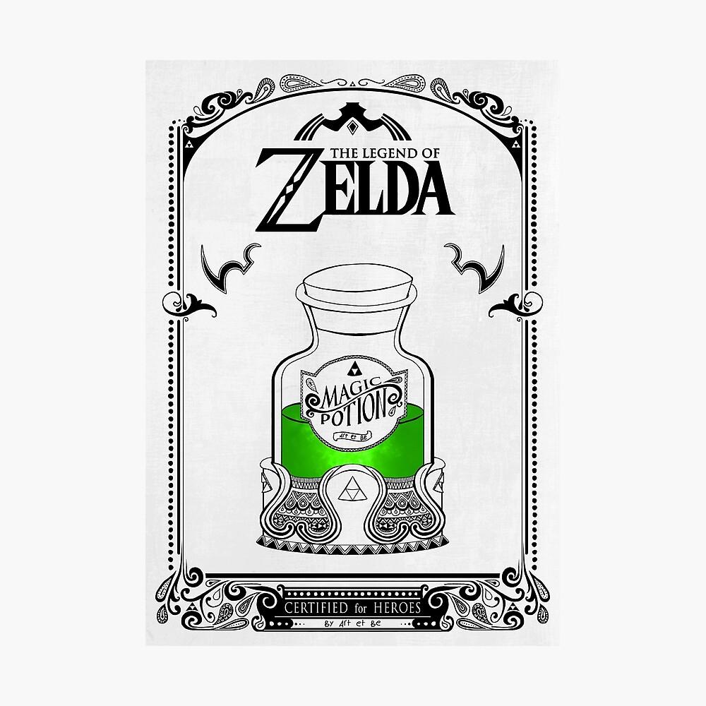 Leyenda de zelda - poción verde Lámina fotográfica
