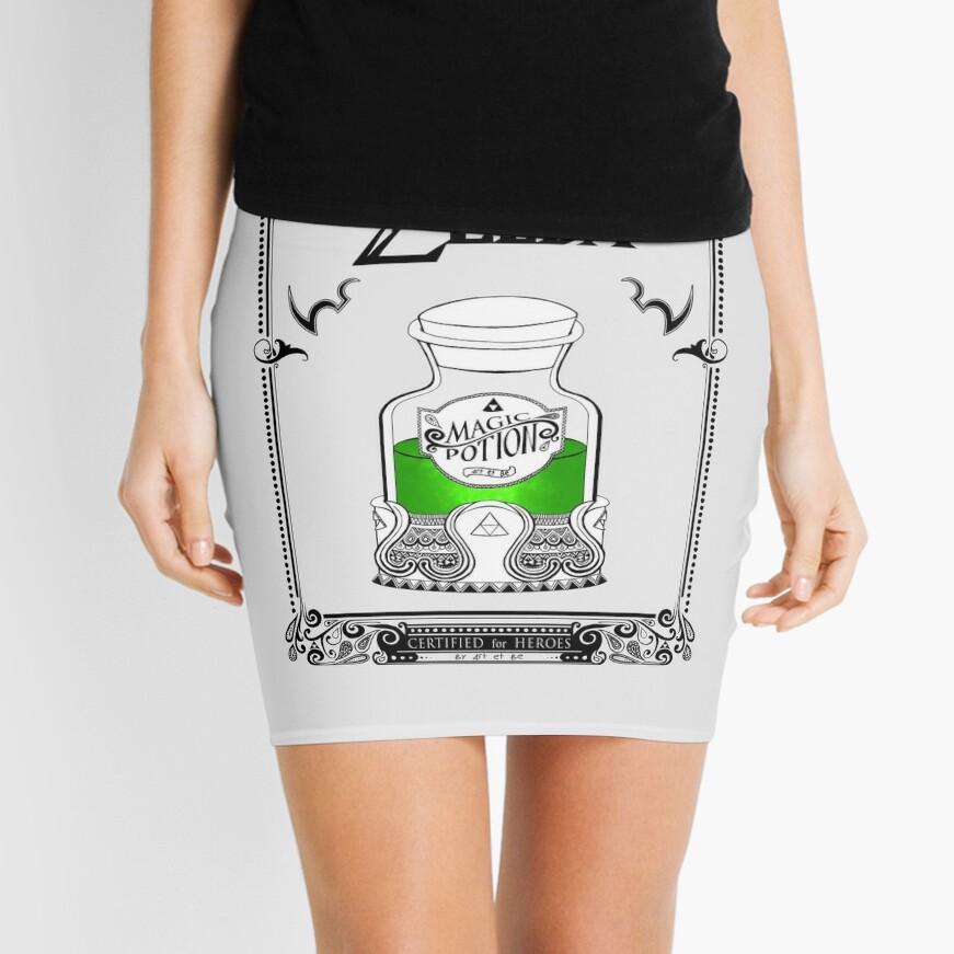Leyenda de zelda - poción verde Minifalda