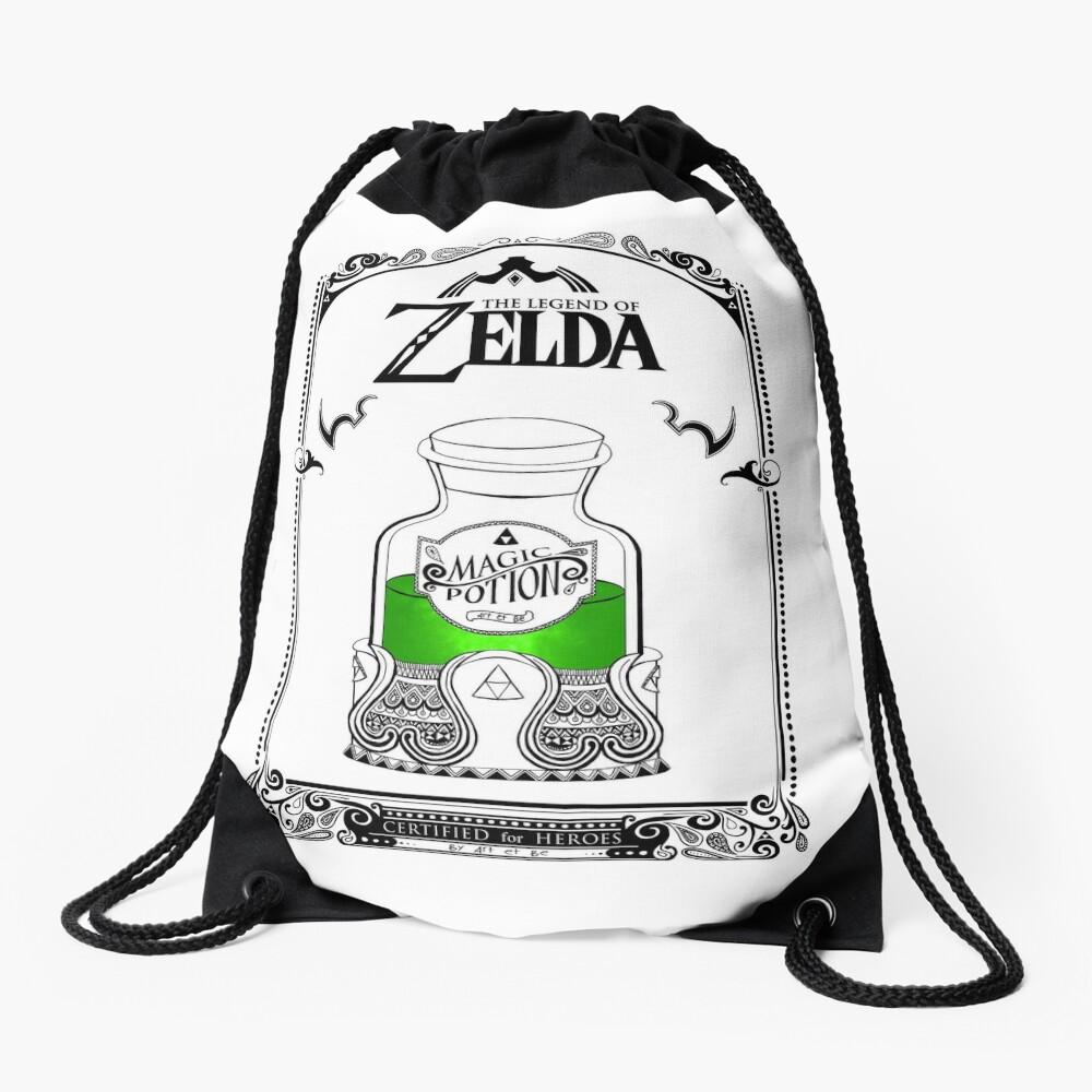 Leyenda de zelda - poción verde Mochila saco