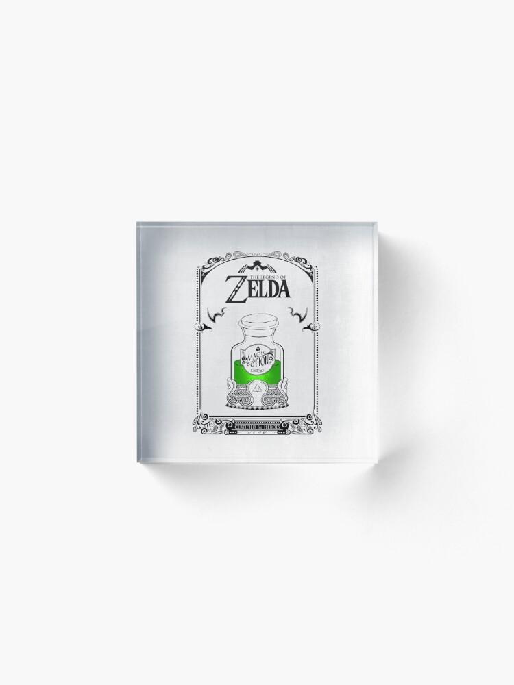 Vista alternativa de Bloque acrílico Leyenda de zelda - poción verde