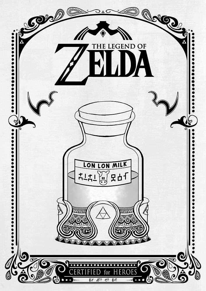 «Leyenda de Zelda - Lon Lon Milk» de artetbe