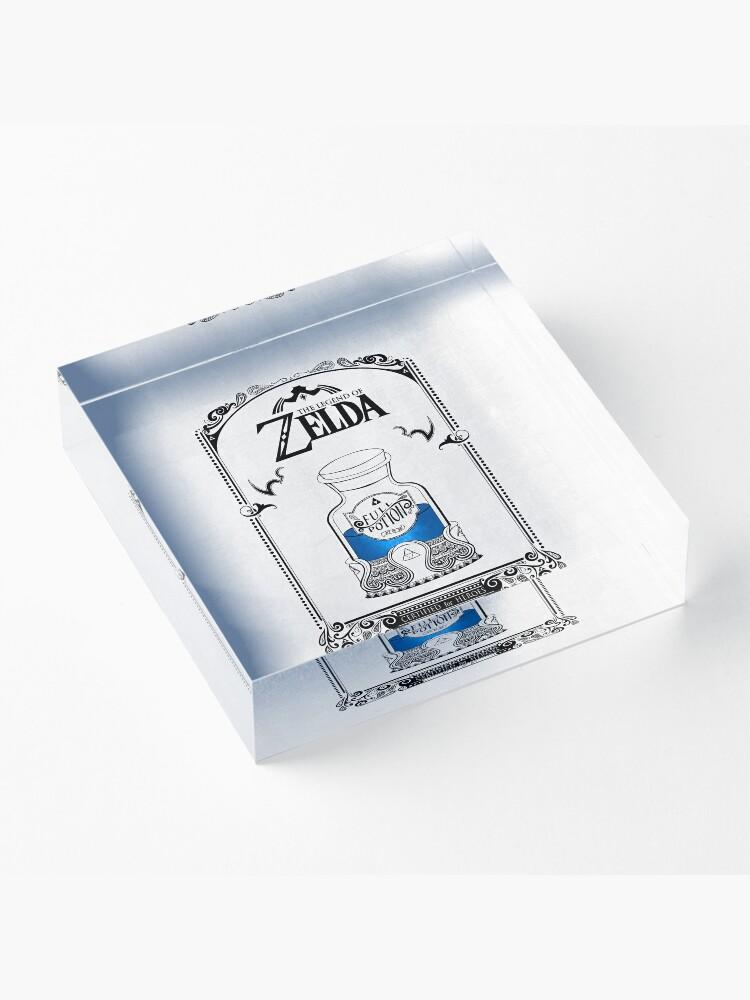Vista alternativa de Bloque acrílico Leyenda de zelda - poción azul
