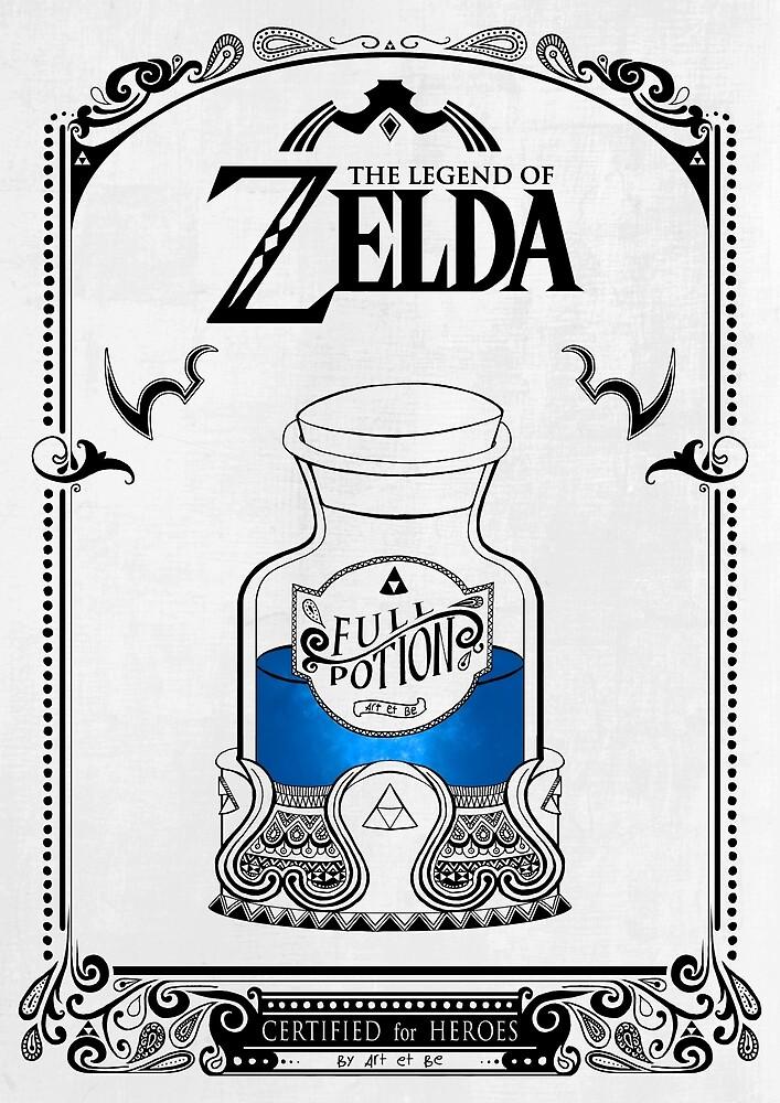 «Leyenda de zelda - poción azul» de artetbe
