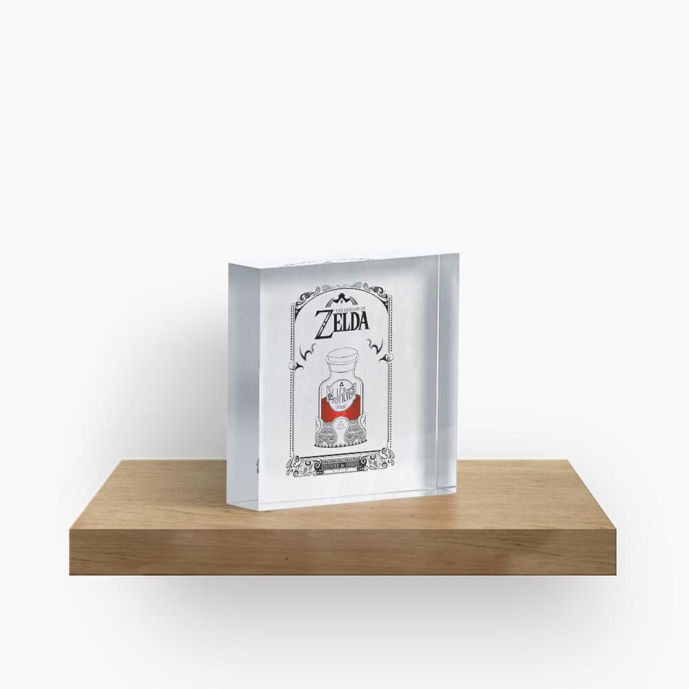 Leyenda de zelda - poción roja Bloque acrílico