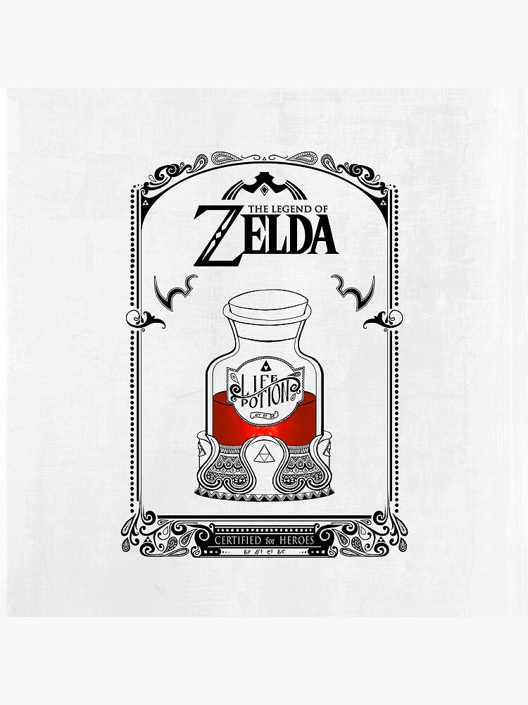 Leyenda de zelda - poción roja de artetbe