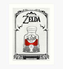 Lámina artística Leyenda de zelda - poción roja