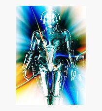 Star Light Robot Photographic Print