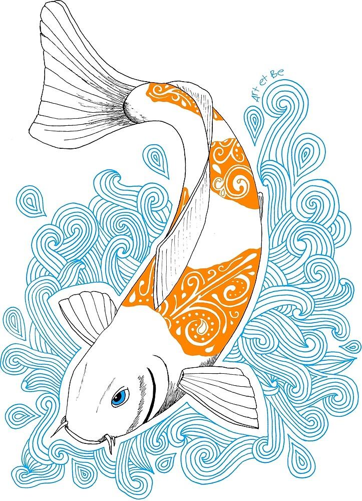 «Carpa de pescado Koi - Naranja» de artetbe