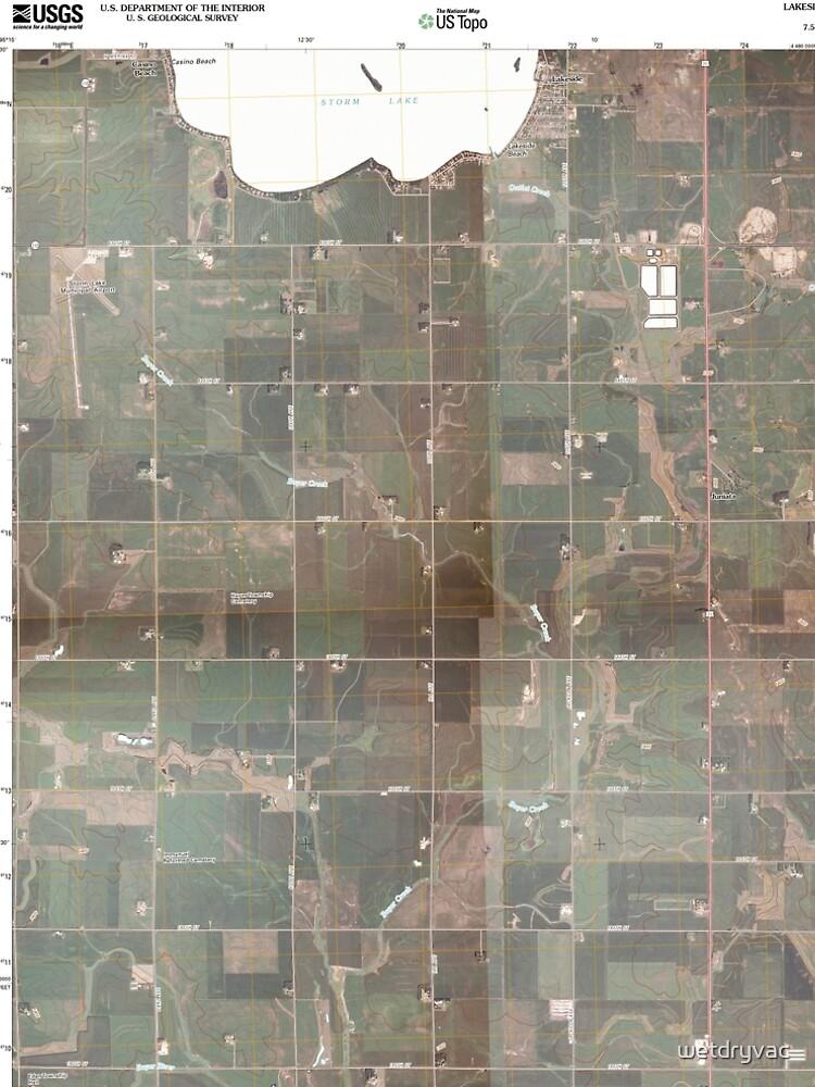 USGS TOPO Maps Iowa IA Lakeside 20100524 TM von wetdryvac